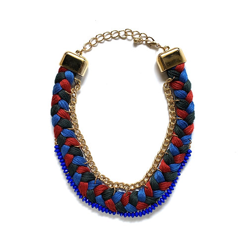 Tricolor Braided Necklace
