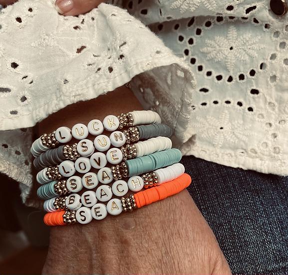 Bracelets Heishi à messages