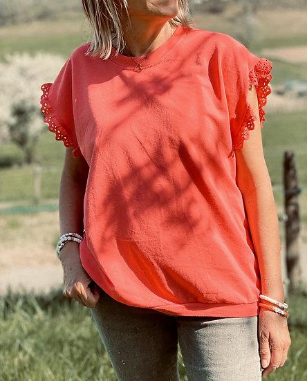 Tee-shirt orange Louane