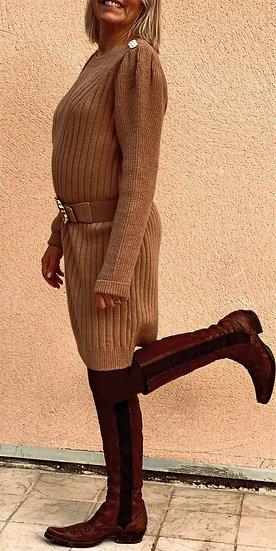 Robe pull camel Elena