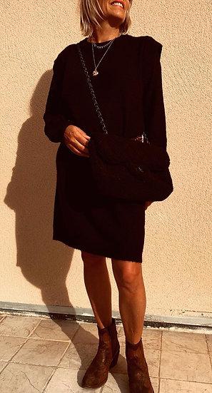 Robe pull noire Nina
