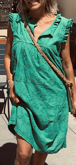Robe verte Adèle