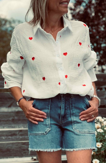 Chemise blanche HEART