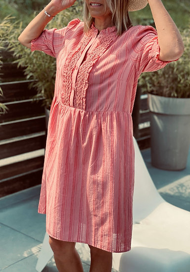 Robe rose Lina