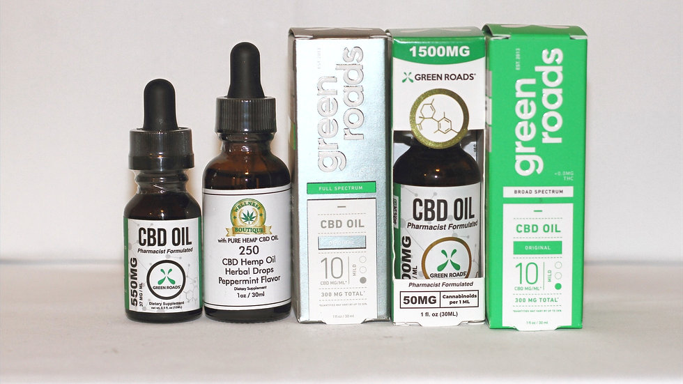 CBD Oil 250, 550, 1000, 1500MG