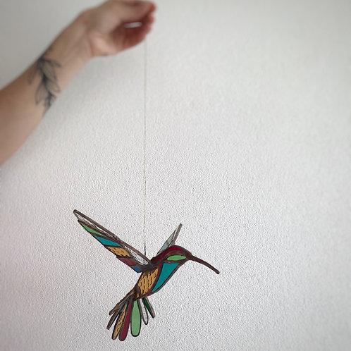 Vitral colibrí grande