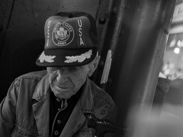 Old US Soldier, Nagycsarnok, Budapest. A