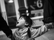 Screaming Child, New York. October 19, 2