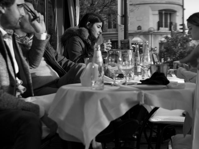 Dejeuner a L'Avenue, Paris. November 16,