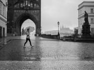Umbrella, CHarles Bridge, Prague. August