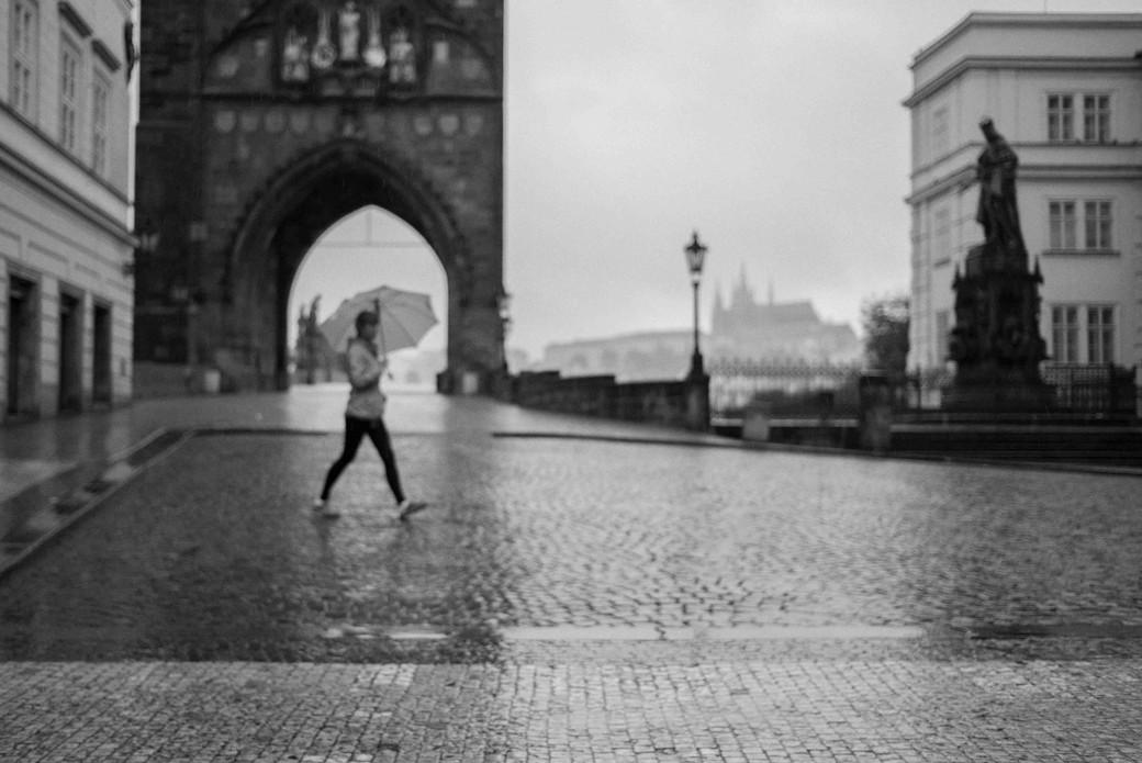 Umbrella, CHarles Bridge, Prague. August 27, 2014.jpg