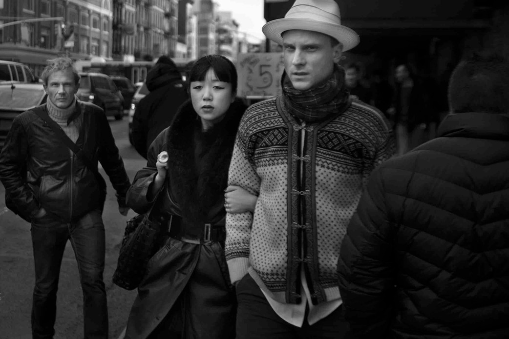 Strolling with girlfriend & stranger, NY. November 9, 2013.jpeg