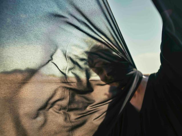 Hijab Blowing, Saudi Arabia Augst 8, 201
