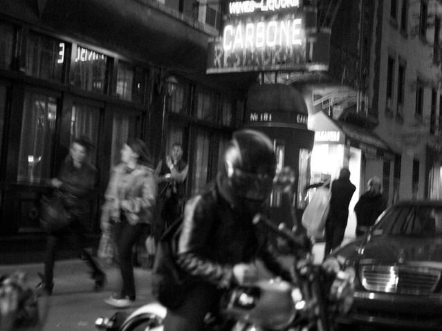 Bike and Italian, New York. October 26,
