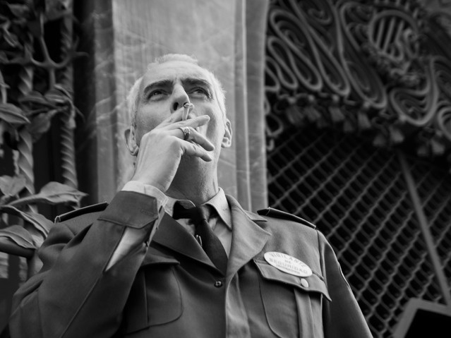 Security guard, The Guell Palace, Barcel