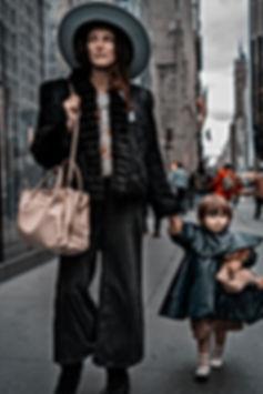 Style Mom & Child, New York. October 17,