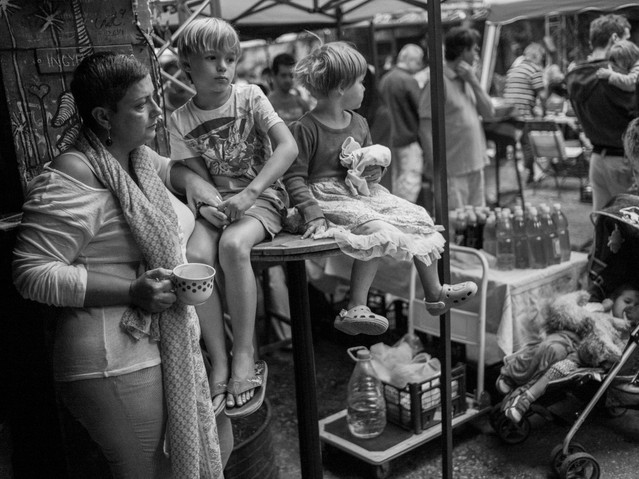 Sunday Market Family, Budapest. August 2