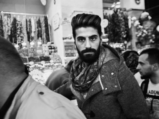 Turkish man spice market, Istanbul. Marc