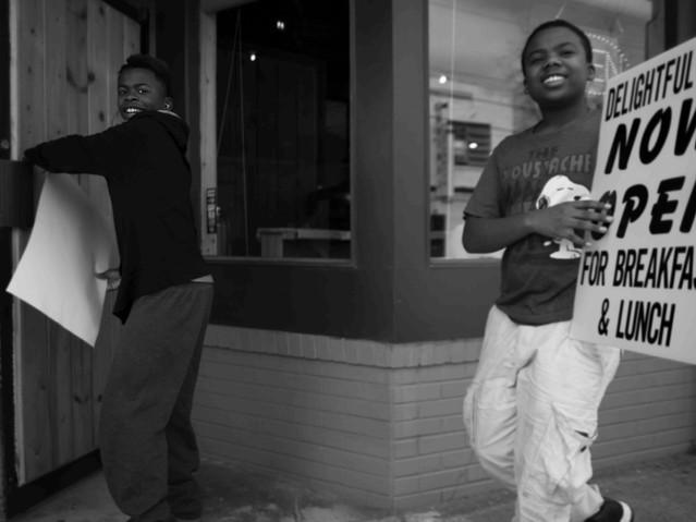 Two boys selling lunch, Atlanta. March 1