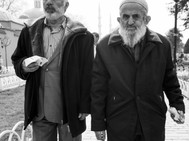 Walking and eating, Istanbul. March 23,