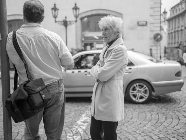 Old Fit Woman, Prague. August 26, 2014.j