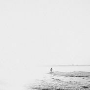 Black &B White Surfer, Malibu. March 28,