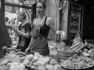 Selling Meats, Budapest. August 24, 2014