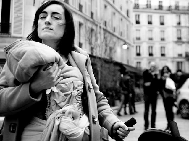 Skeptical mother, Paris. November 24, 20