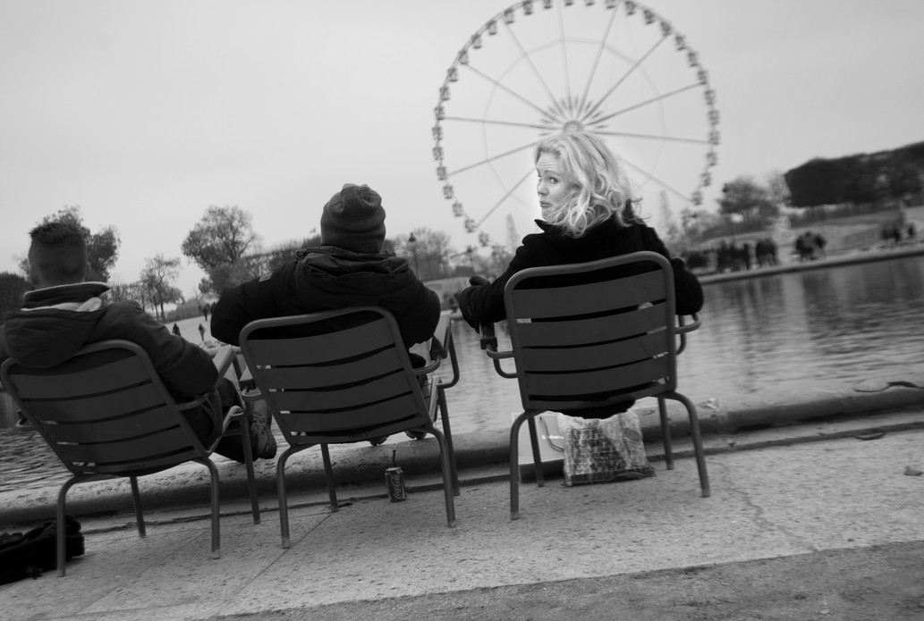 Three Freinds, Place de la Concorde, Paris. November 16, 2013 .jpg