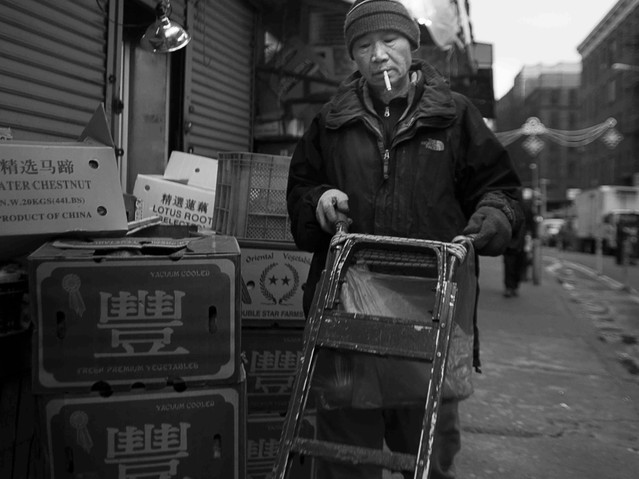 Delivery, Chinatown, New York. January 1