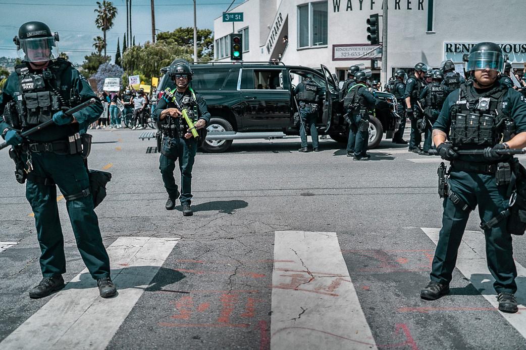 11. 3rd street Cops, Los Angeles. May 30, 2020.jpg