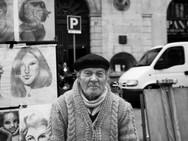 Street Artist, Barcelona. November 19, 2