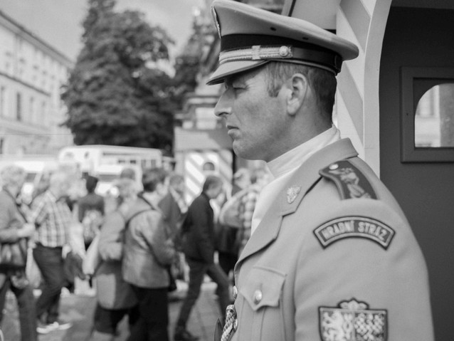 Palace Guard, Prague. August 27, 2014.jp