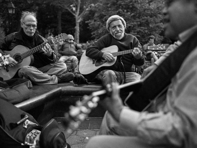 Folk Musicians, New York. October 26, 20