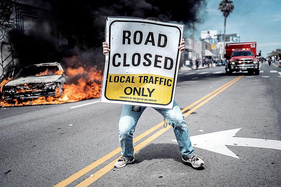 LA Protest - 3rd & Fairfax, Los Angeles_
