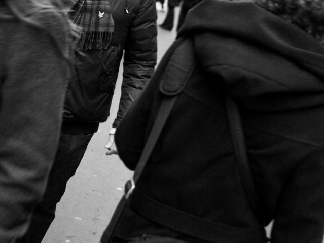 Man Walking Streets, PAris. November 24,