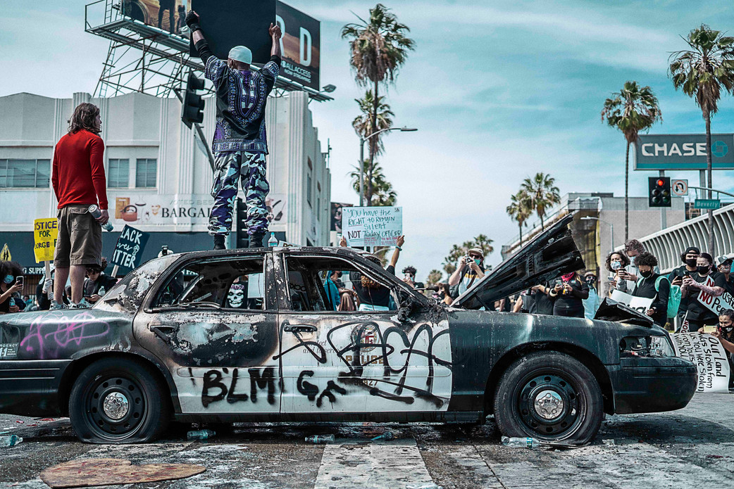 27.wrecked cop car, Los Angeles. May 30, 2020.jpeg