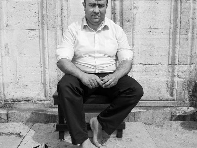 Man outside Süleymaniye Mosque, Istanbul