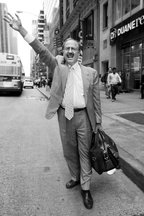 Hailing A Taxi, New York. June 11, 2014.jpg