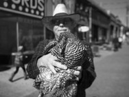 Chicken and a cowboy, Atlanta. February