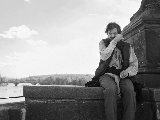 Man On Charles Bridge, Prague. August 28