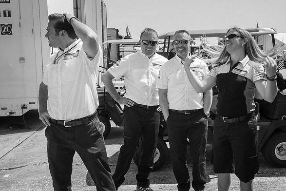 Four team members, Sebring. March 18, 20