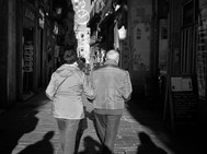 Walking through the streets, Barcelona.
