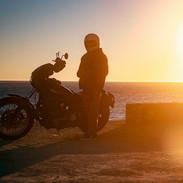 Motorcycle Man, Malibu. February 22, 202