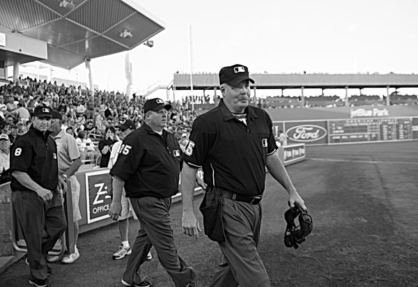Umpires, Spring Training, Florida. March