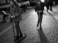Kids on Scooters, Paris November 24, 201
