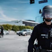 LA Protest - Cop, Los Angeles. May 30, 2