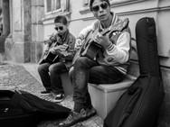 Father Son Street Musicians, Prague. Aug