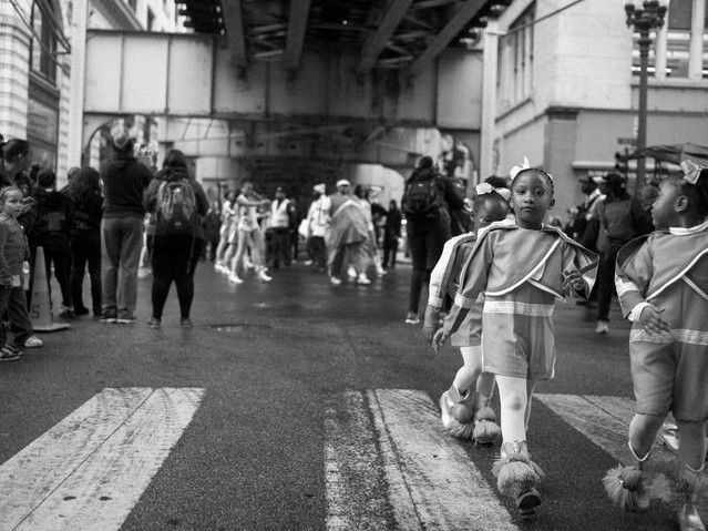 Little Girls Marching, Chicago. October