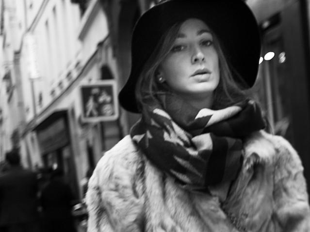 Parisian Woman, Paris. Novmber 24, 2013.